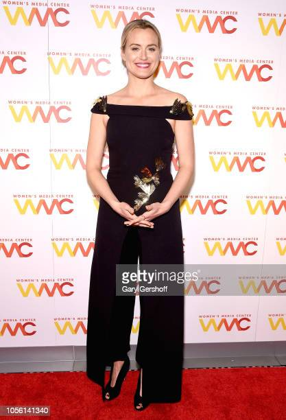 Actress Taylor Schilling attends The Women's Media Center 2018 Women's Media Awards at Capitale on November 1 2018 in New York City