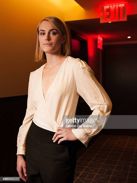 Actress Taylor Schilling is photographed for Vanity Fair.com on April 15, 2015 in New York.