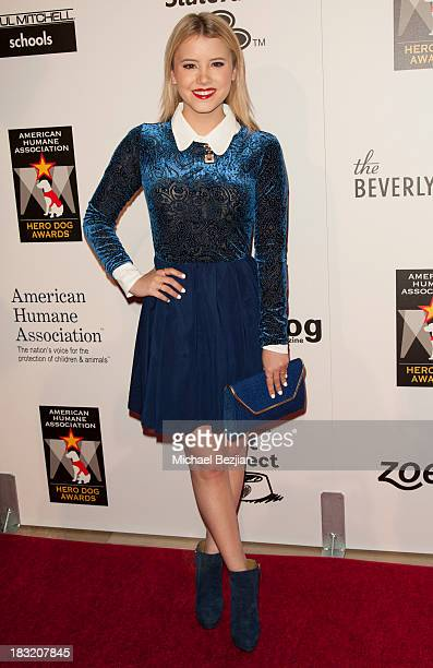 Actress Taylor Spreitler arrives at the 3rd Annual American Humane Association Hero Dog Awards at The Beverly Hilton Hotel on October 5 2013 in...