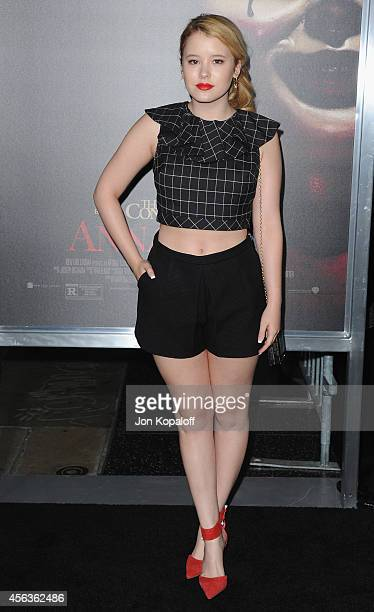 Actress Taylor Spreitler arrives at the Los Angeles Premiere Annabelle at TCL Chinese Theatre on September 29 2014 in Hollywood California