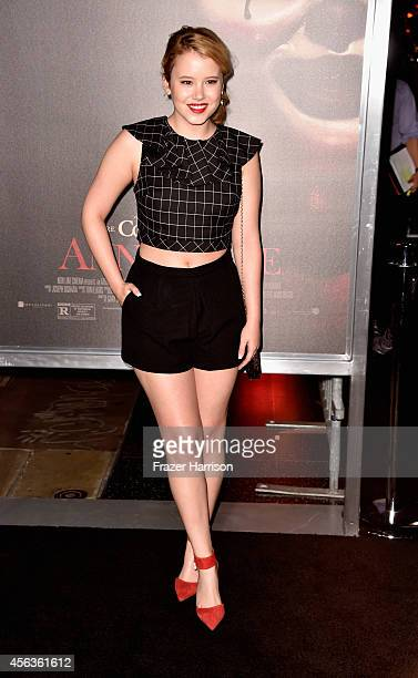 Actress Taylor Spreitler arrives at the screening Of New Line Cinema's Annabelle at TCL Chinese Theatre on September 29 2014 in Hollywood California