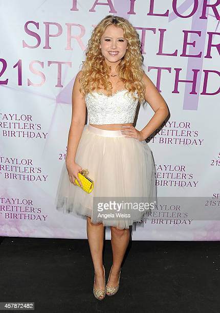 Actress Taylor Spreitler attends her 21 In The City Birthday Party at CBS on October 25 2014 in Studio City California