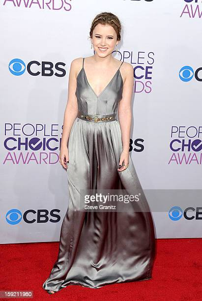 Actress Taylor Spreitler attends the 2013 People's Choice Awards at Nokia Theatre LA Live on January 9 2013 in Los Angeles California