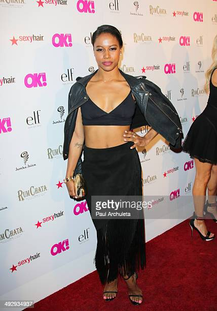 Actress Taylour Paige attends OK Magazine's So Sexy LA event at Lure on May 21 2014 in Hollywood California