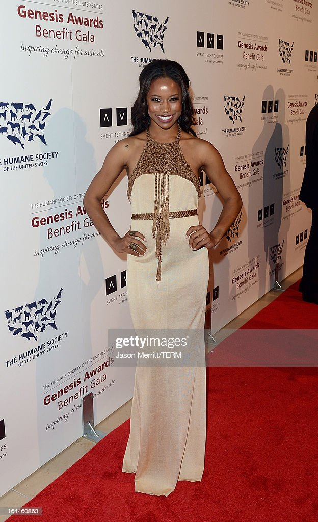 Actress Taylour Paige attends The Humane Society of the United States 2013 Genesis Awards Benefit Gala at The Beverly Hilton Hotel on March 23, 2013 in Los Angeles, California.