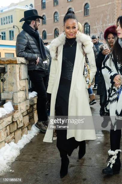 Actress Taylour Paige walks on Main Street on January 25 2020 in Park City Utah