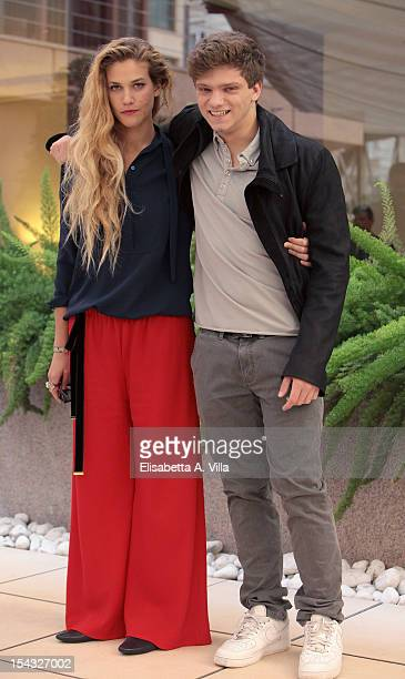 Actress Tea Falco and actor Jacopo Olmo Antinori attends 'Io e Te' photocall at Visconti Palace Hotel on October 18 2012 in Rome Italy