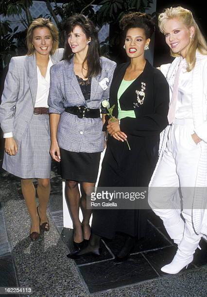 Actress Tea Leoni Actress Karen Kopins Actress Sandra Canning and Actress Claire Yarlett attend the Press Conference to Announce the Cast of the New...