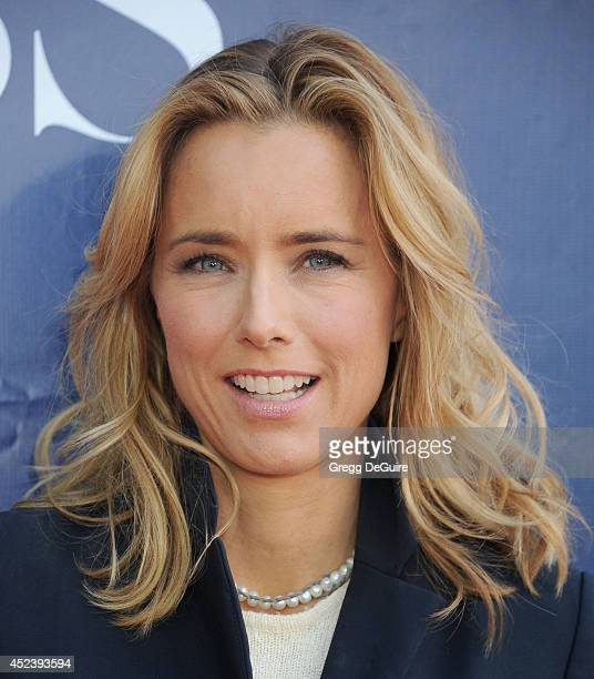 Actress Tea Leoni arrives at the 2014 Television Critics Association Summer Press Tour CBS CW And Showtime Party at Pacific Design Center on July 17...