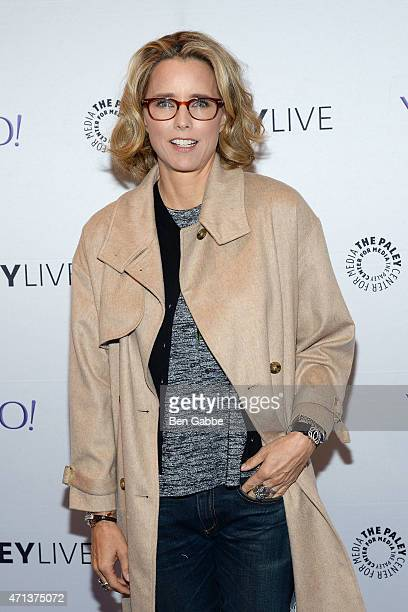 Actress Tea Leoni attends an evening with 'Madame Secretary' at the Paley Center For Media on April 27 2015 in New York City