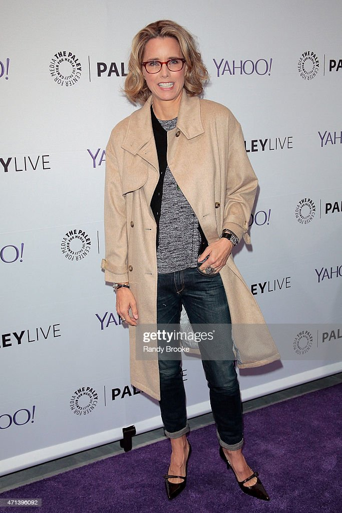 Actress Tea Leoni attends The Paley Center for Media presents an evening with 'Madame Secretary' at Paley Center For Media on April 27, 2015 in New York City.