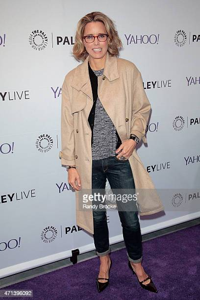 Actress Tea Leoni attends The Paley Center for Media presents an evening with 'Madame Secretary' at Paley Center For Media on April 27 2015 in New...