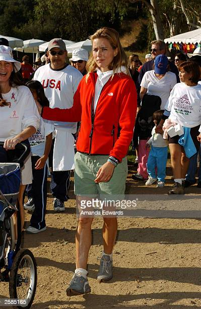 Actress Tea Leoni helps lead a group of hikers at the 8th Annual Expedition Inspiration TakeAHike at Paramount Ranch in the Santa Monica Mountains...