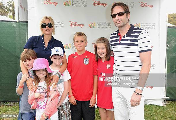 Actress Tea Leoni husband actor avid Duchovny and kids arrive at the 21st A Time For Heroes Celebrity Picnic sponsored by Disney to benefit the...