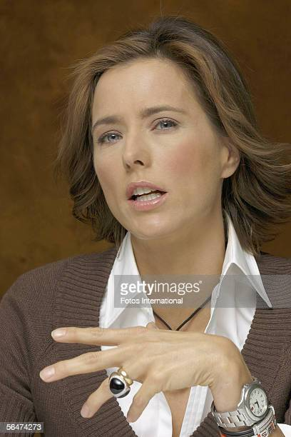 Actress Tea Leoni talks at the Regency Hotel on December 3 2005 in New York City New York