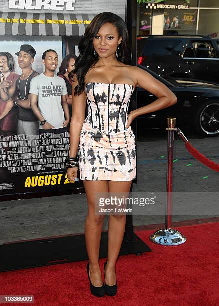 Actress Teairra Mari attends the premiere of Lottery Ticket at Grauman's Chinese Theatre on August 12 2010 in Hollywood California