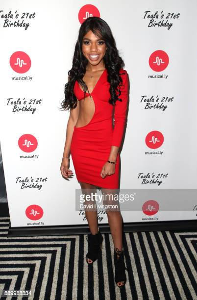 Actress Teala Dunn attends Teala Dunn's 21st birthday party on December 10 2017 in Los Angeles California
