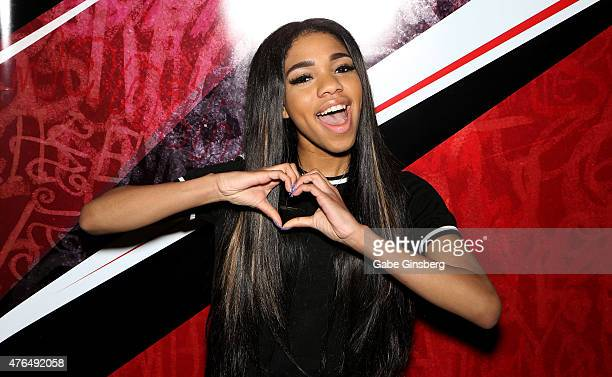 Actress Teala Dunn attends the Licensing Expo 2015 at the Mandalay Bay Convention Center on June 9 2015 in Las Vegas Nevada