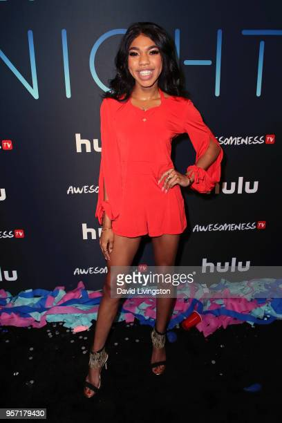 Actress Teala Dunn attends the premiere of AwesomenessTV's new show 'All Night' at Awesomeness HQ on May 10 2018 in Los Angeles California