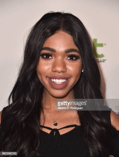 Actress Teala Dunn attends the premiere Of Orchard And Fine Brothers Entertainment's F*% The Prom at ArcLight Hollywood on November 29 2017 in...