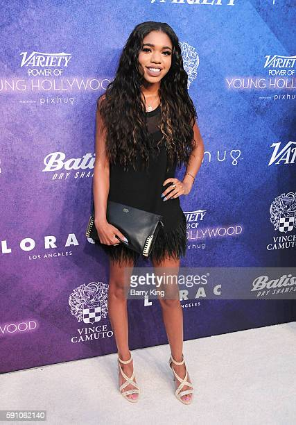 Actress Teala Dunn attends Variety's Power of Young Hollywood event presented by Pixhug with platinum sponsor Vince Camuto at NeueHouse Hollywood on...