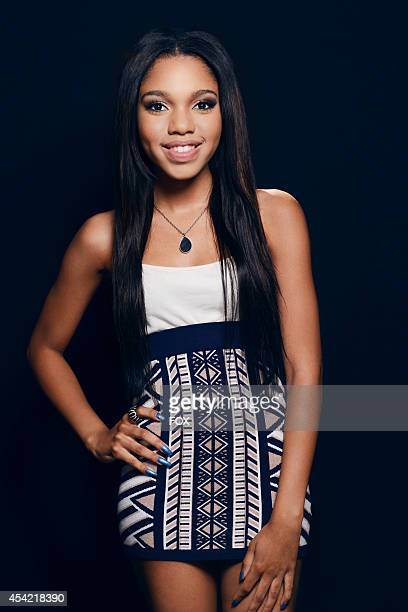 Actress Teala Dunn is photographed at the Fox 2014 Teen Choice Awards at The Shrine Auditorium on August 10 2014 in Los Angeles California