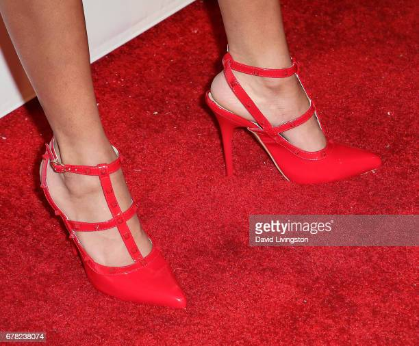 Actress Teala Dunn shoe detail attends the premiere party for Circle 8 Production's 'This Is LA' at Yamashiro Hollywood on May 3 2017 in Los Angeles...