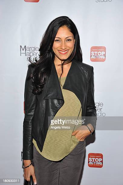 Actress Tehmina Sunny arrives at Margie Haber Studio's 'Stop Acting App The Audition Class with Margie Haber' release launch party at Aventine...