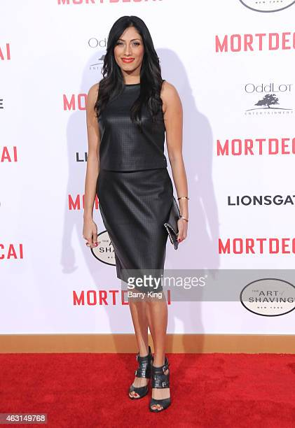Actress Tehmina Sunny arrives at the Los Angeles Premiere of Mortdecai at TCL Chinese Theatre on January 21 2015 in Hollywood California
