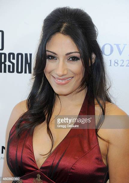 Actress Tehmina Sunny arrives at the Los Angeles premiere of Third Person at Pickford Center for Motion Study on June 9 2014 in Hollywood California