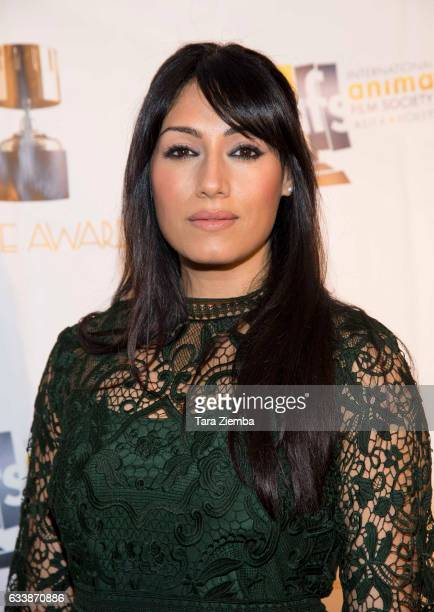 Actress Tehmina Sunny arrives to the 44th Annual Annie Awards at Royce Hall on February 4 2017 in Los Angeles California