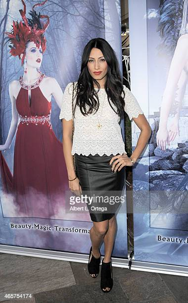 Actress Tehmina Sunny attends the Art Hearts Fashion Opening Night with Sue Wong's Runway Fashion Show Mythos And Goddesses held at Taglyan Cultural...