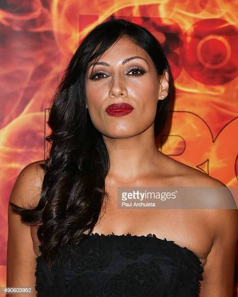 Actress Tehmina Sunny attends the HBO's Official 2015 Emmy After Party at The Plaza at the Pacific Design Center on September 20 2015 in Los Angeles...