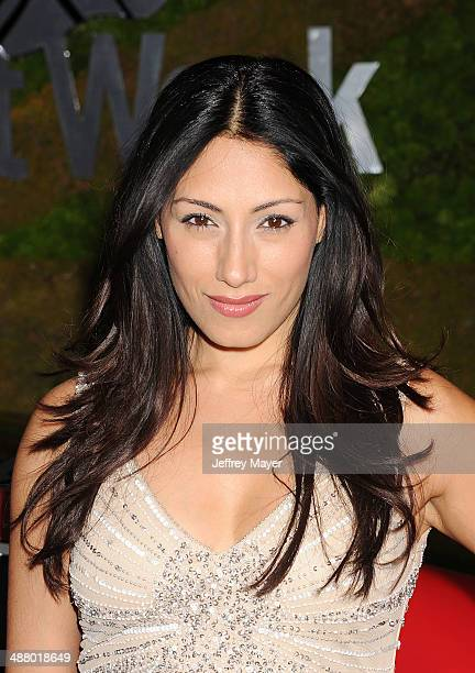 Actress Tehmina Sunny attends the Jaguar North America and BritWeek present a Villainous Affair held at The London on May 2 2014 in West Hollywood...