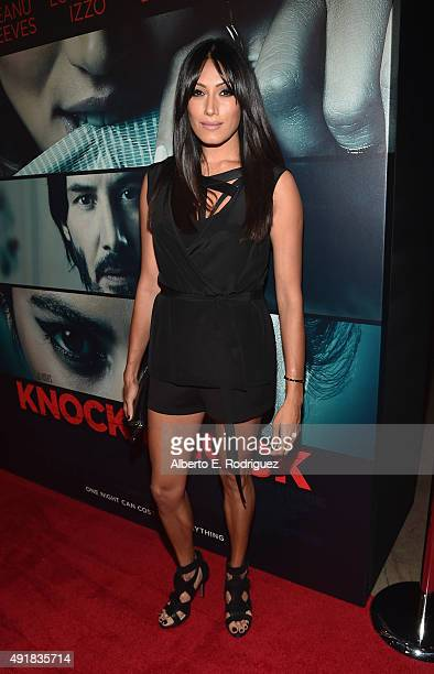 Actress Tehmina Sunny attends the premiere of Lionsgate's Knock Knock at TCL Chinese 6 Theatres on October 7 2015 in Hollywood California