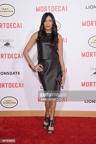 Actress Tehmina Sunny attends the premiere of Lionsgate's Mortdecai at TCL Chinese Theatre on January 21 2015 in Hollywood California