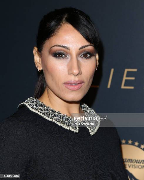 Actress Tehmina Sunny attends the premiere of TNT's The Alienist at The Paramount Lot on January 11 2018 in Hollywood California