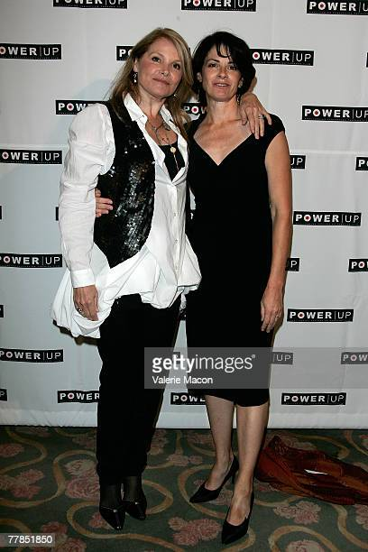 Actress television and film director Helen Shaver and actress Patricia Charbonneau arrive at the Power Premiere Awards at the Beverly Hills Hotel on...