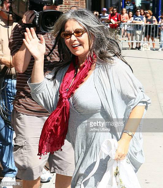 Actress / Television personality Roseanne Barr arrives to 'Late Show With David Letterman' at the Ed Sullivan Theater on July 12 2011 in New York City
