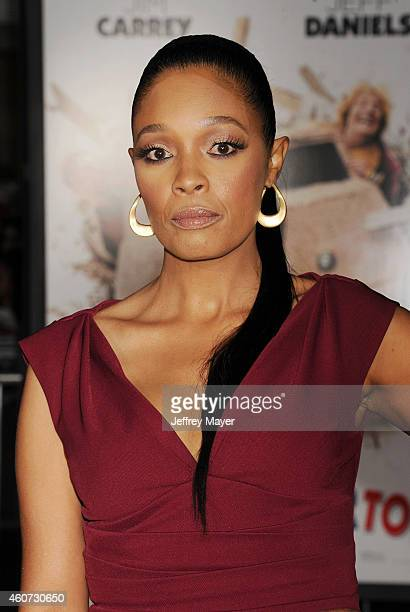 Actress Tembi Locke arrives at the Los Angeles premiere of 'Dumb And Dumber To' at Regency Village Theatre on November 3 2014 in Westwood California