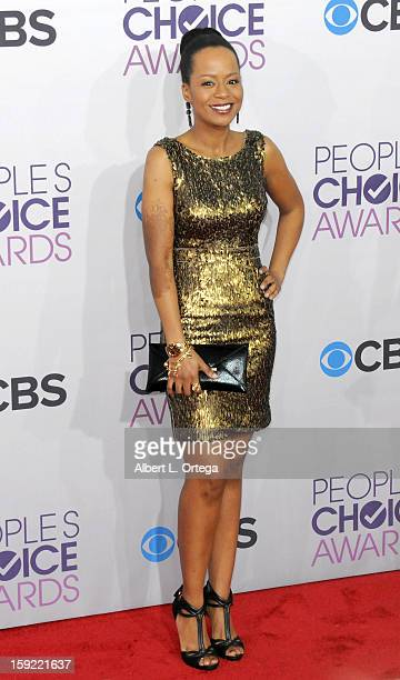 Actress Tempest Bledsoe arrives for the 34th Annual People's Choice Awards Arrivals held at Nokia Theater at LA Live on January 9 2013 in Los Angeles...