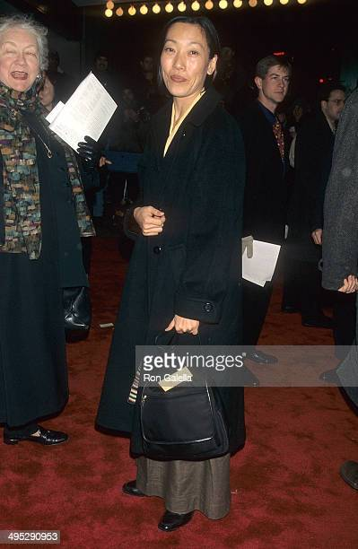 Actress Tencho Gyalpo attends the 'Kundun' New York City Premiere on December 11 1997 at Loews Astor Plaza in New York City