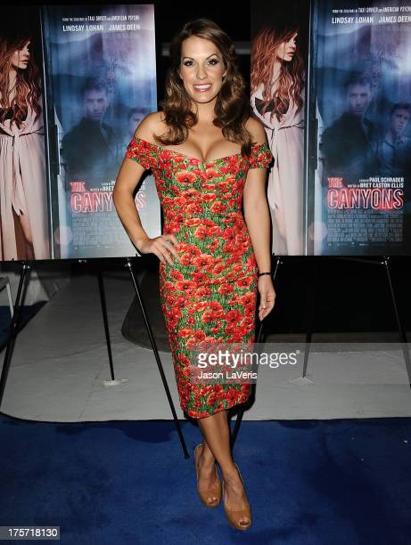 Actress Tenille Houston attends the premiere of The Canyons at The Standard Hotel on August 6 2013 in Los Angeles California