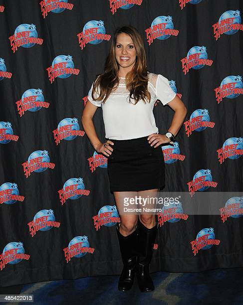 Actress Tenille Houston visits Planet Hollywood Times Square on April 17 2014 in New York City