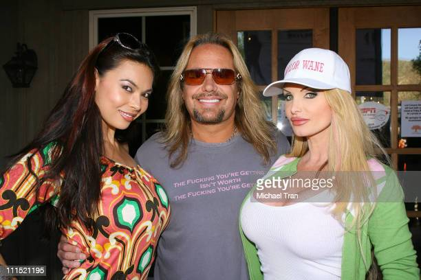 Actress Tera Patrick Lead singer of Motley Crue Vince Neil and actress Taylor Wane attend the 12th Annual Skylar Neil Memorial Golf Tournament...