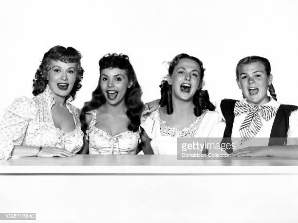 Actress Teresa Brewer Rhonda Fleming Cynthia Bell Kay Bell in a scene from the movie Those Redheads from Seattle