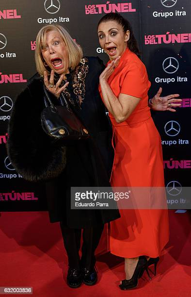 Actress Teresa Gimpera and actress Neus Asensi attend 'Los del Tunel' premiere at Capitol cinema on January 18 2017 in Madrid Spain