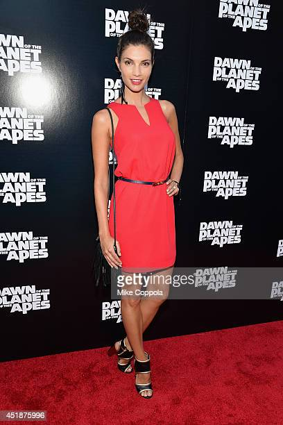 Actress Teresa Moore attends the Dawn Of The Planets Of The Apes premiere at Williamsburg Cinemas on July 8 2014 in New York City
