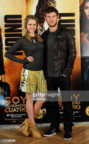 Actress Teresa Palmer and actor Alex Pettyfer attend a photocall for 'Soy El Numero Cuatro' at the Santo Mauro Hotel on March 16 2011 in Madrid Spain