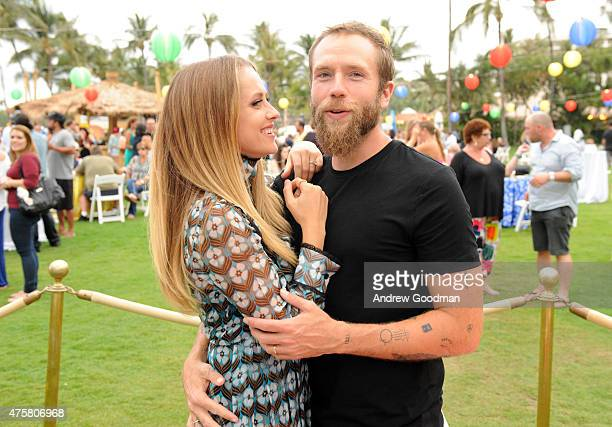 Actress Teresa Palmer and actor/writer Mark Webber attend the Taste of Summer Opening Night Party during the 2015 Maui Film Festival at Grand Wailea...